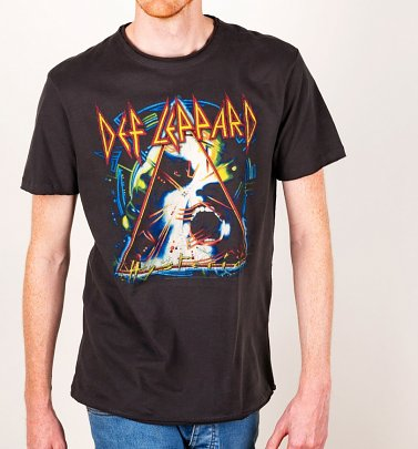Charcoal Def Leppard Hysteria T-Shirt from Amplified