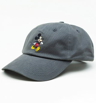 Charcoal Disney Mickey Mouse Baseball Cap from Hype
