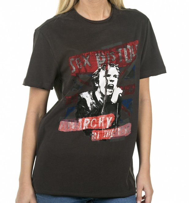Charcoal Sex Pistols Anarchy In The UK T-Shirt from Amplified