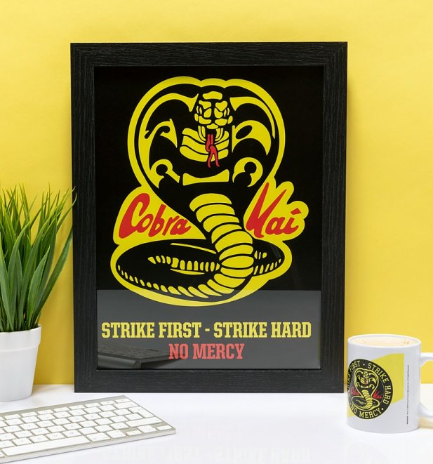 Cobra Kai No Mercy Framed Print 30cm x 40cm