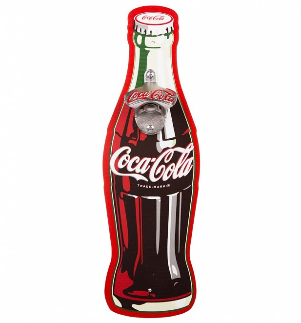 Coca Cola Contour Bottle Wall Mounted Bottle Opener
