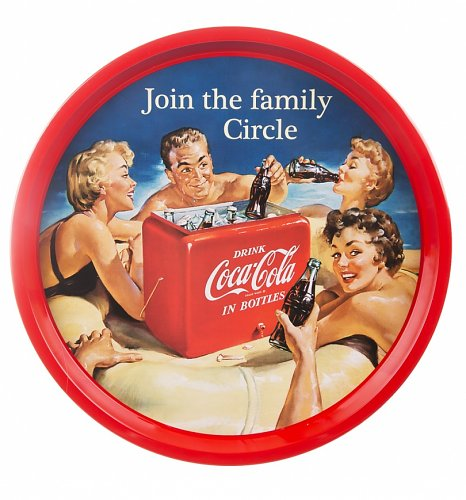 Coca-Cola Family Circle Bar Tray