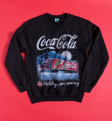 Coca-Cola Holidays Are Coming Black Sweater