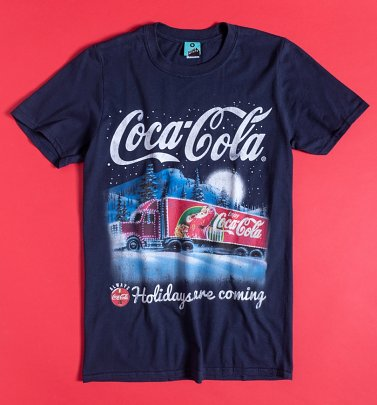 Coca-Cola Holidays Are Coming Navy T-Shirt