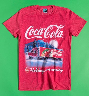 Coca-Cola Holidays Are Coming Red Marl T-Shirt