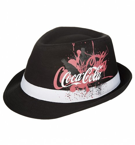 Coca-Cola Painted Bottle Fedora Hat