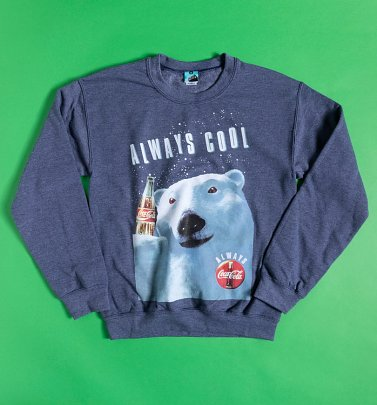 Coca-Cola Polar Bear Blue Marl Sweater
