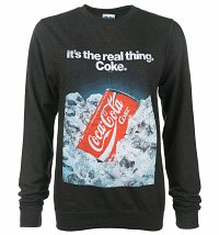 Coca-Cola Retro Advert Black Heather Sweater