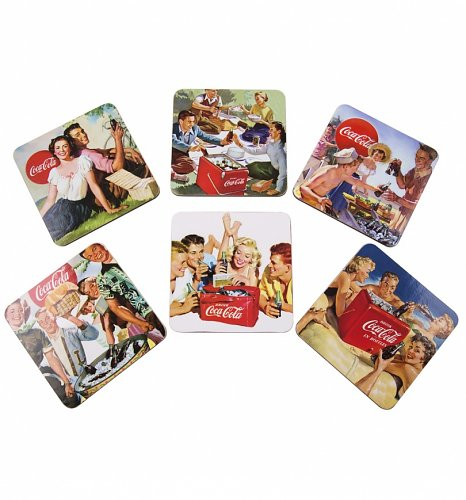 Coca-Cola Retro Family Circle Coasters