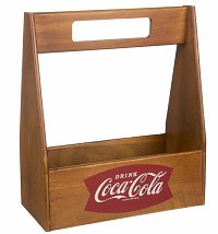 Coca-Cola Wooden Caddy