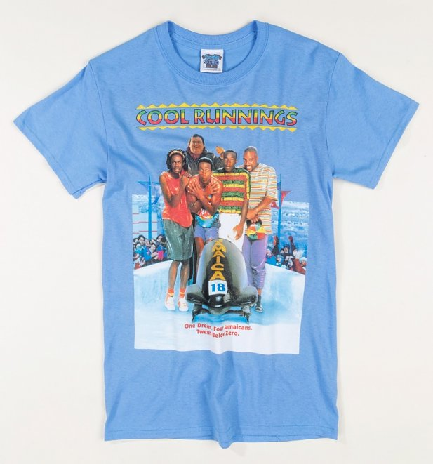 Cool Runnings Movie Poster Carolina Blue T-Shirt