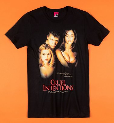 Cruel Intentions Movie Poster Black T-Shirt