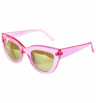 Crystal Pink Cats Eye Sunglasses from Jeepers Peepers