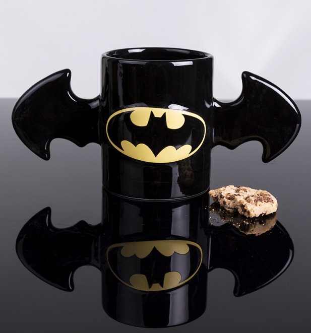 DC Comics 3D Batman Logo Mug With Wings