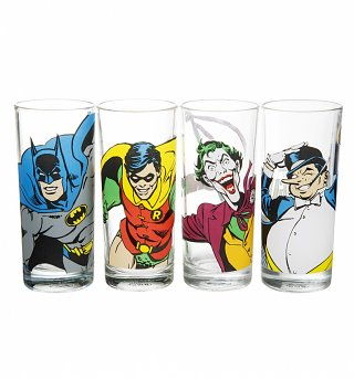 DC Comics Batman Characters Set Of 4 Glasses