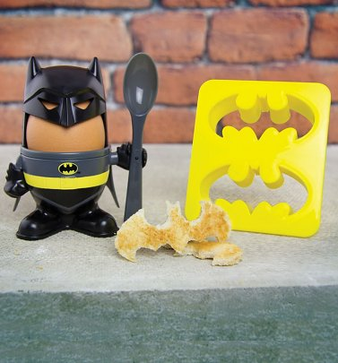 DC Comics Batman Egg Cup And Toast Cutter Set