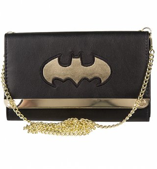DC Comics Batman Metal Logo Envelope Clutch Bag