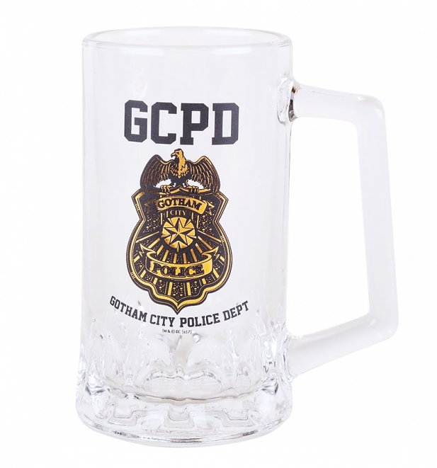 DC Comics Gotham City Police Department Glass Tankard