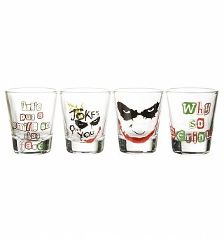 DC Comics Joker Set of 4 Shot Glasses