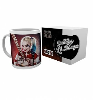DC Comics Suicide Squad Harley Quinn Daddy's Little Monster Photographic Mug