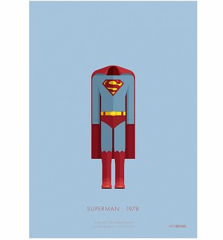 "DC Comics Superman Costume 11"" x 14"" Art Print"