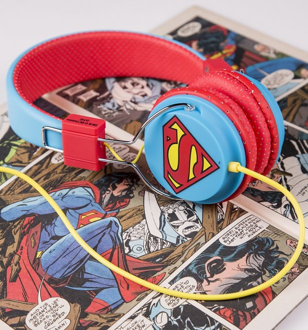 DC Comics Superman Logo Headphones