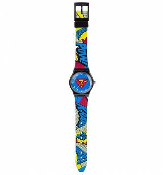 DC Comics Superman Pop Art Quartz Watch