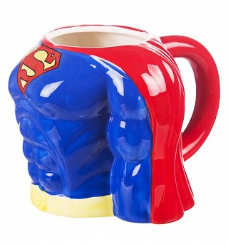 DC Comics Superman Torso 3D Mug