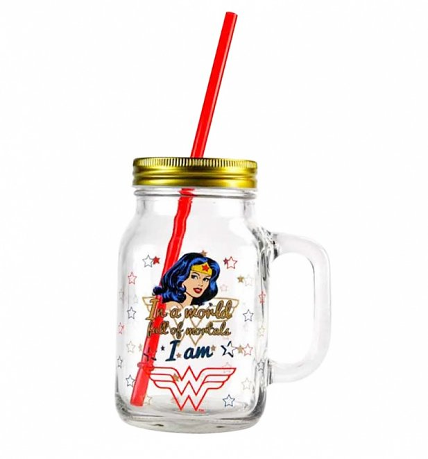 DC Comics Wonder Woman Boxed Mason Jar Glass