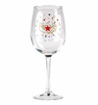 DC Comics Wonder Woman Large Boxed Wine Glass