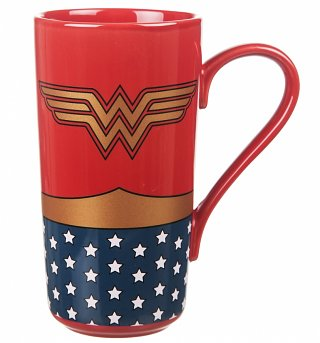 DC Comics Wonder Woman Logo Latte Mug