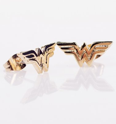 DC Comics Wonder Woman Logo Stud Earrings