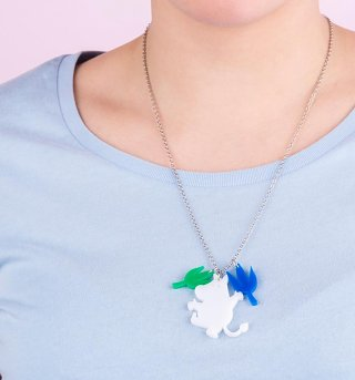 Dancing Moomintroll Acrylic Necklace