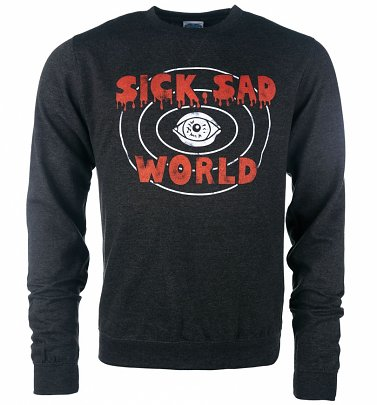 Daria Inspired Sick Sad World Heather Black Sweater