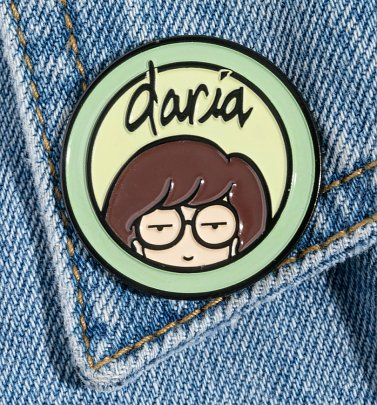 Daria Logo Pin Badge