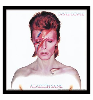 "David Bowie Aladdin Sane 12"" Album Cover Print"