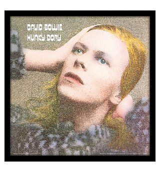 "David Bowie Hunky Dory 12"" Album Cover Print"