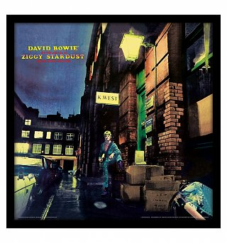 "David Bowie Ziggy Stardust 12"" Album Cover Print"