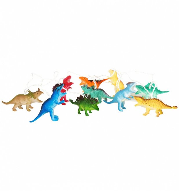 Bright Coloured Dinosaur String Lights from House Of Disaster