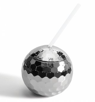Disco Ball Straw Cup