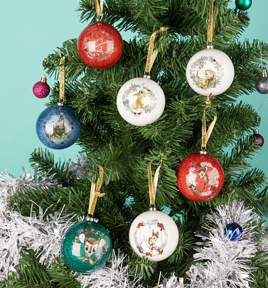 Disney Bambi Enchanted Forest Set of 7 Baubles