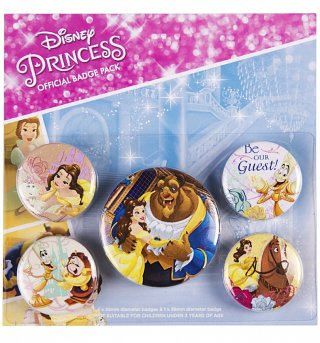 Disney Beauty And The Beast Badge Pack