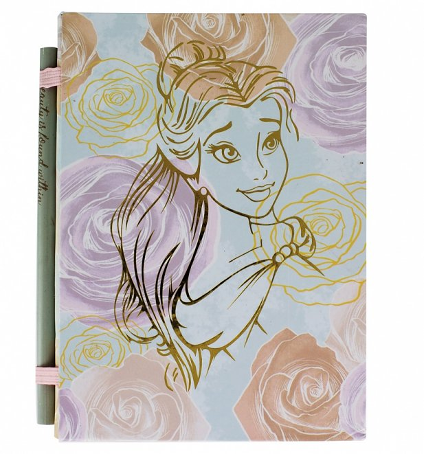 Disney Beauty And The Beast Belle Notebook With Pencil