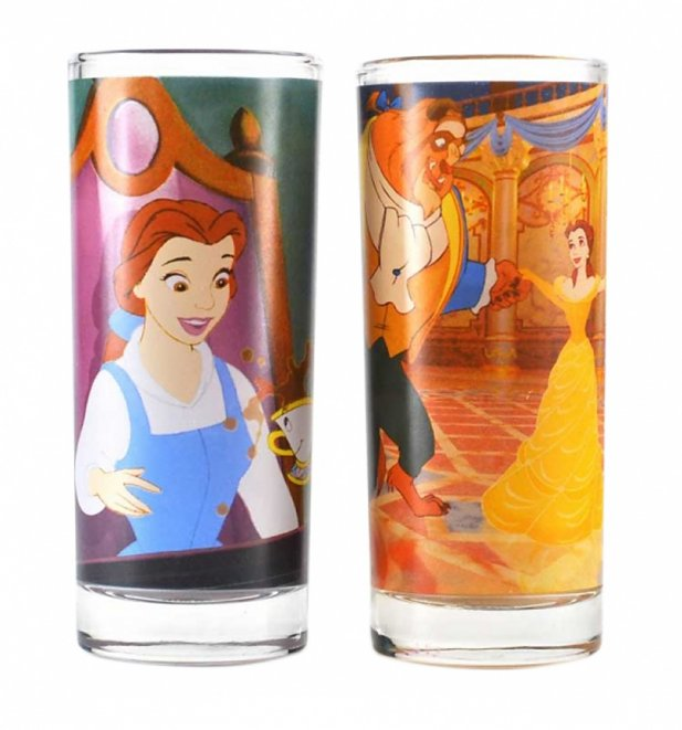 Disney Beauty And The Beast Set of 2 Glasses