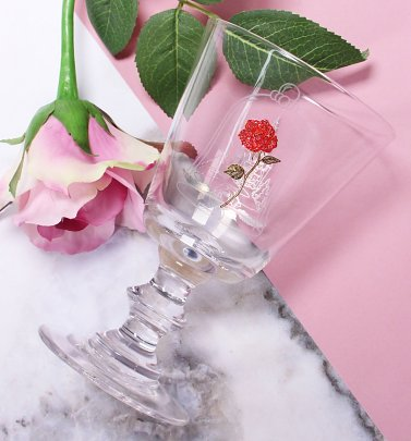 Disney Beauty & The Beast Rose Wine Glass
