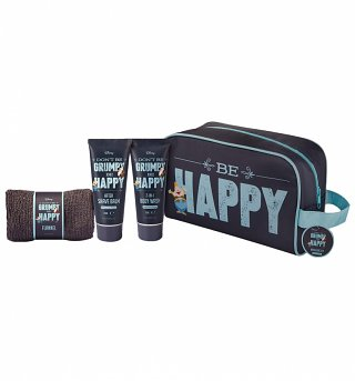 Disney Don't Be Grumpy Be Happy Wash Bag Set