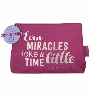 Disney Even Miracles Take A Little Time Make Up Bag