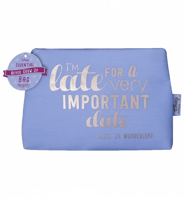 Disney I'm Late For A Very Important Date Make Up Bag