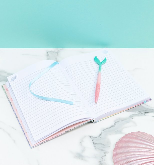 Disney Little Mermaid Dreams Notebook and Mermaid Tail Pen from Funko