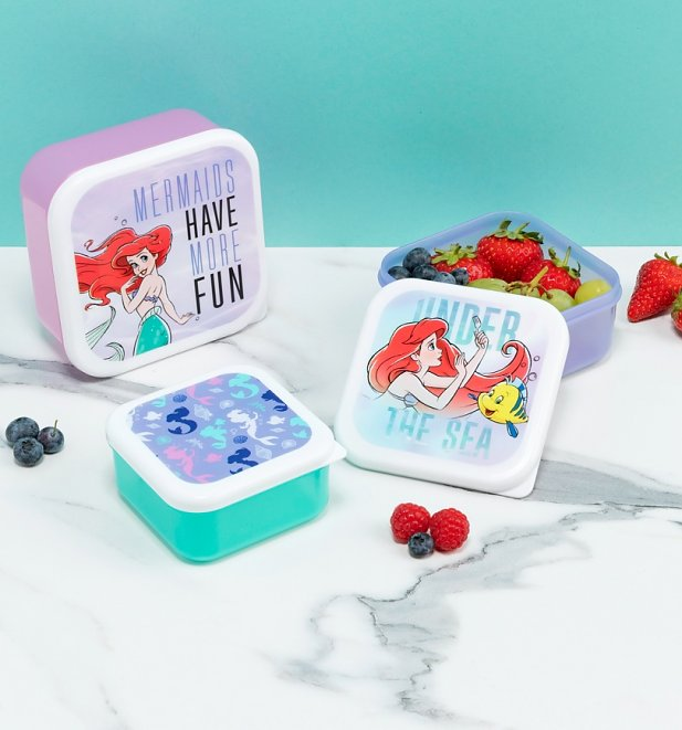 Disney Little Mermaid Set Of Three Snack Boxes from Funko